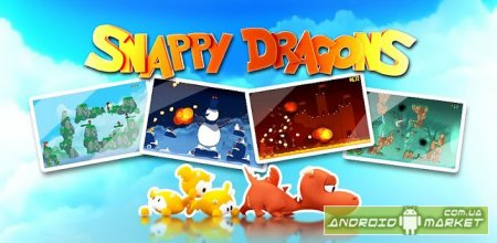 Snappy Dragons - смесь angry birds и worms