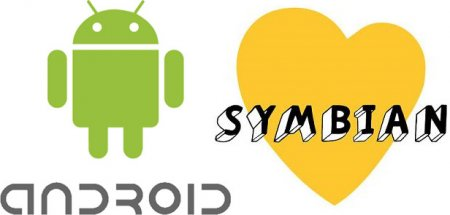 Android популярнее  Symbian