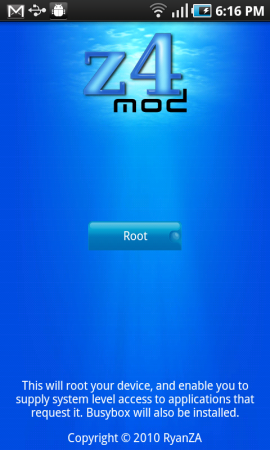 z4root ��������� ��� ��������� root ��� Android 2.2.1