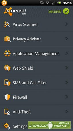 avast! Mobile Security ���������� ��������� ��� �������
