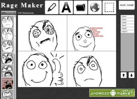 Rage Comic Maker – создание Rage-комиксов