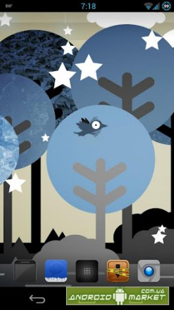 Whimsical Blue Forest LWP full