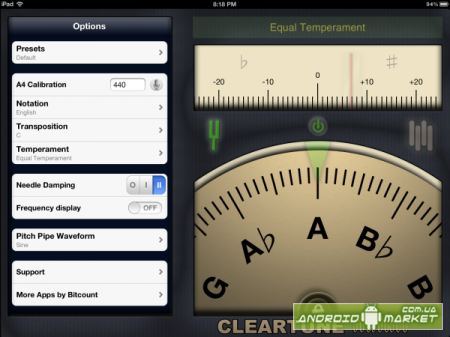 Cleartune - Chromatic Tuner - ������������� �����.