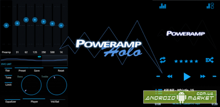 Poweramp Holo ICS Skin