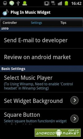 Plug In Music Widget