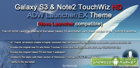 Galaxy S3 Note2 ADW/NOVA Theme