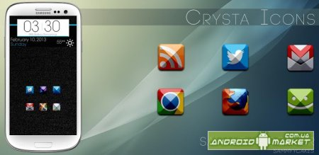 Crysta Icons (Apex, Nova, ADW)