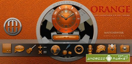 orange GO Launcher EX