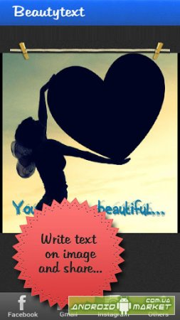 Beautytext: Text on Pictures