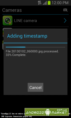 Camera Timestamp Add-On