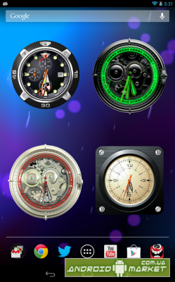 Analog Clock Wallpaper/Widget Premium