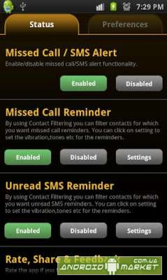 Missed Call SMS Alert