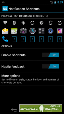 Notification shortcuts