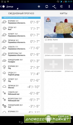 Погода по AccuWeather
